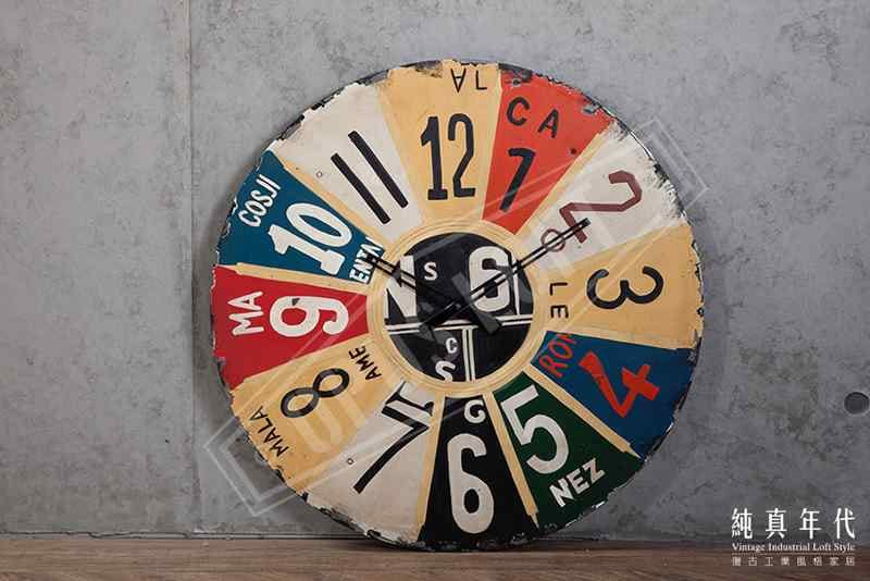 复古工业 手绘 铁制 时钟